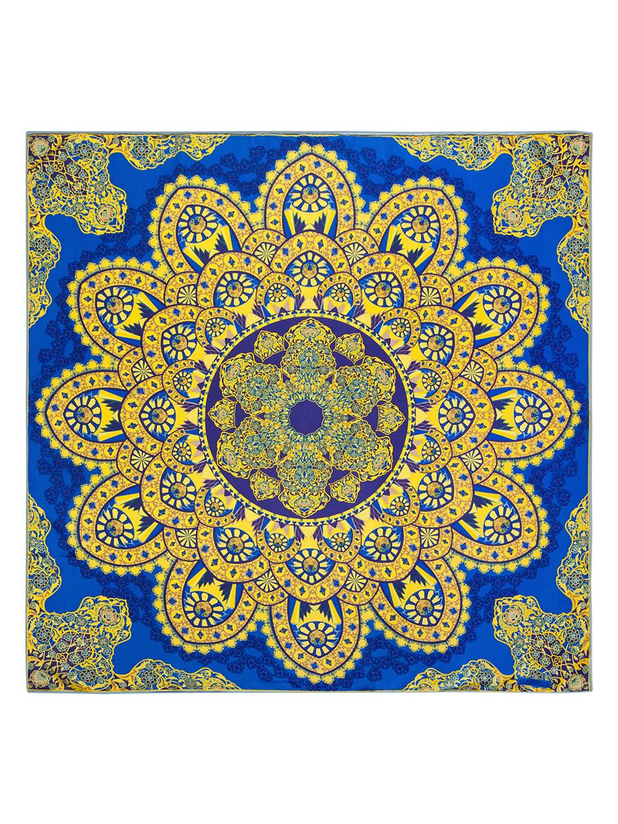 Платок женский Eleganzza, цвет: синий, желтый. E04-7098. Размер 90 см х 90 смE04-7098Стильный женский платок Eleganzza станет великолепным завершением любого наряда. Платок изготовлен из 100% шелка, оформлен оригинальным орнаментом , края обработаны кантом. Такой платок превосходно дополнит любой наряд и подчеркнет ваш неповторимый вкус и элегантность.
