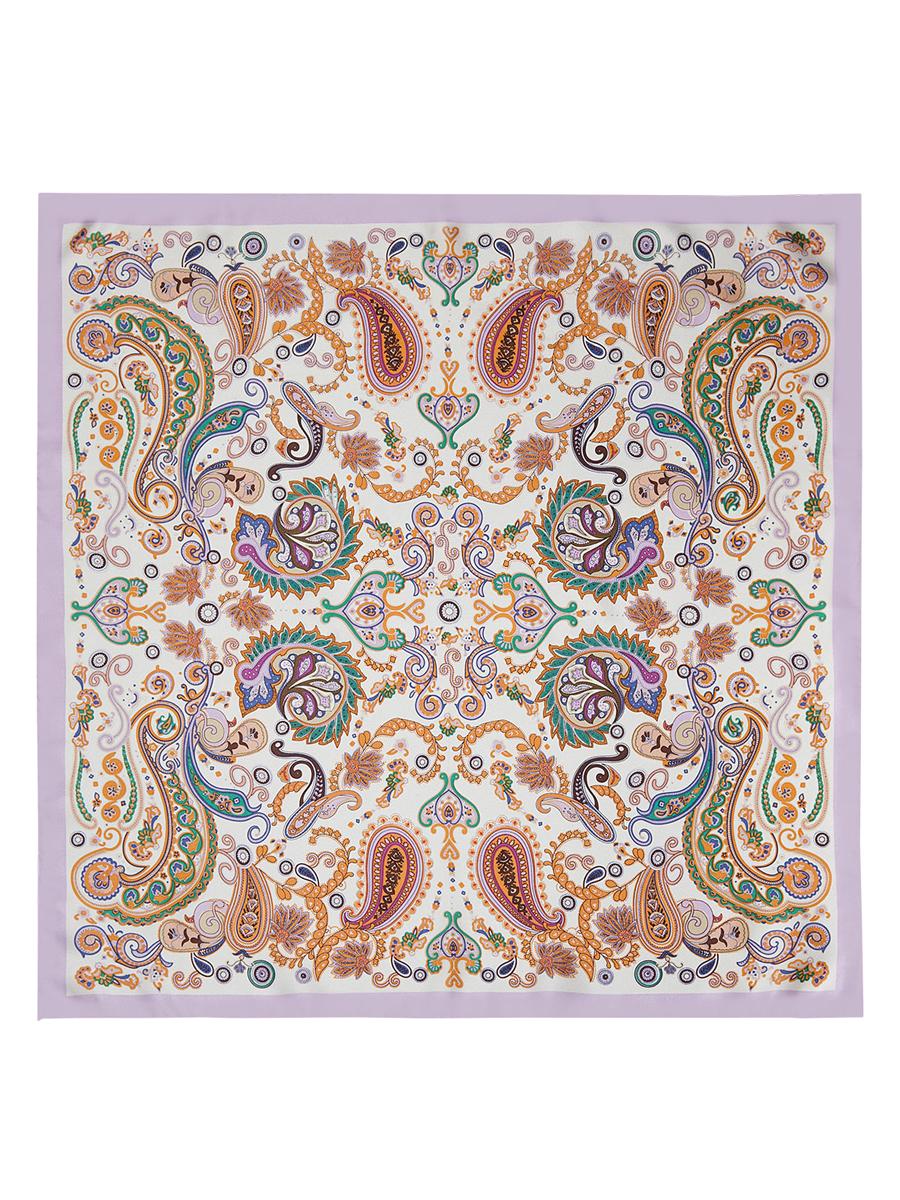 Платок женский Eleganzza, цвет: светло-розовый, белый, оранжевый. E04-7103. Размер 53 см х 53 смE04-7103Стильный женский платок Eleganzza станет великолепным завершением любого наряда. Платок изготовлен из высококачественного шелка и оформлен оригинальным орнаментом. Классическая квадратная форма позволяет носить платок на шее, украшать им прическу или декорировать сумочку.Такой платок превосходно дополнит любой наряд и подчеркнет ваш неповторимый вкус и элегантность.