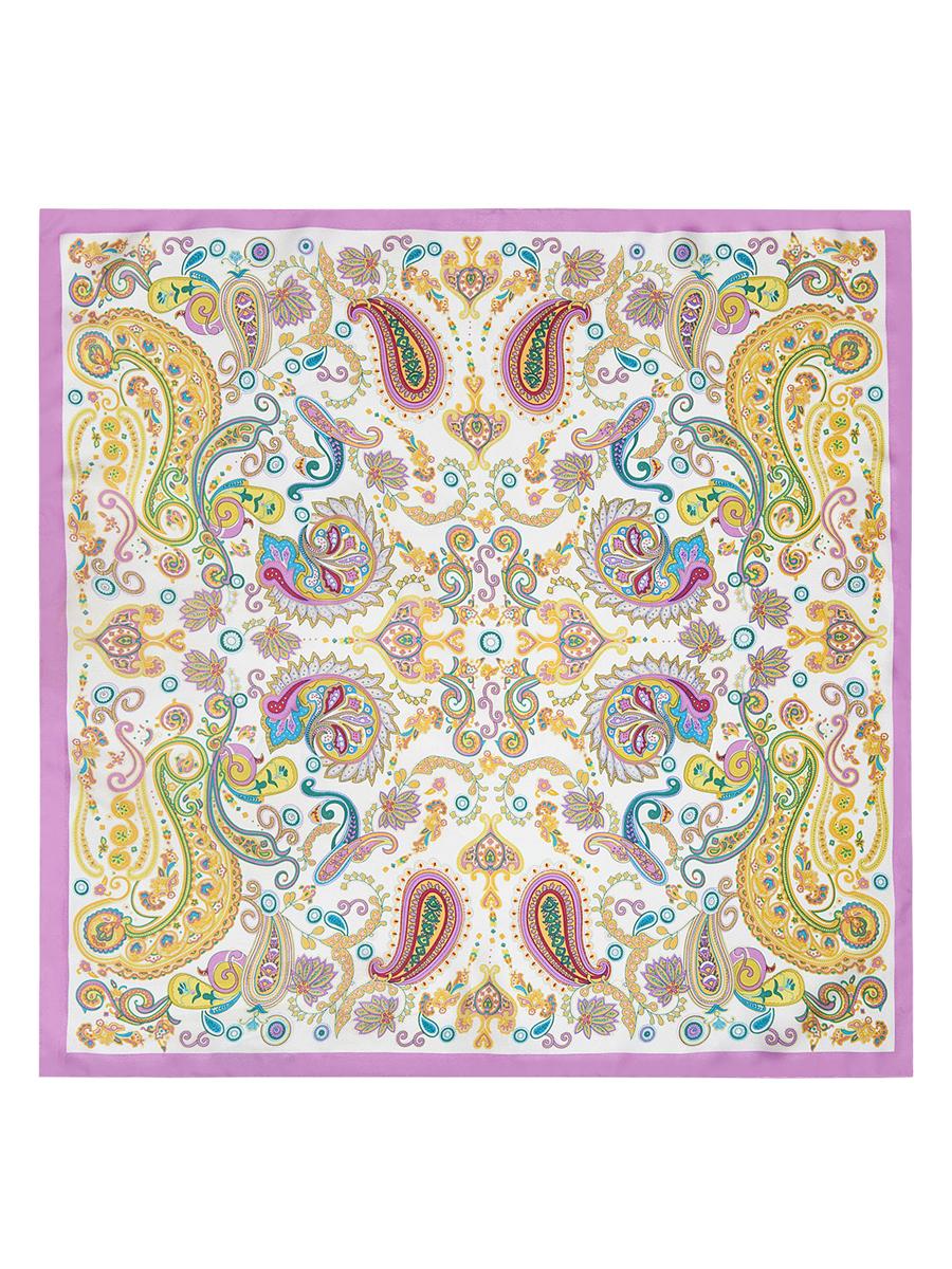 Платок женский Eleganzza, цвет: фуксия, белый, желтый. E04-7103. Размер 53 см х 53 смE04-7103Стильный женский платок Eleganzza станет великолепным завершением любого наряда. Платок изготовлен из высококачественного шелка и оформлен оригинальным орнаментом. Классическая квадратная форма позволяет носить платок на шее, украшать им прическу или декорировать сумочку.Такой платок превосходно дополнит любой наряд и подчеркнет ваш неповторимый вкус и элегантность.