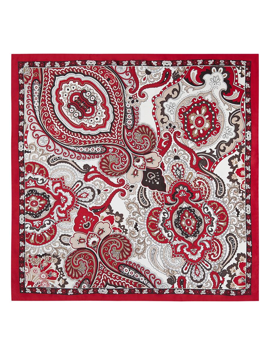 Платок женский Eleganzza, цвет: темно-красный, бежевый, белый. E04-7107. Размер 53 см х 53 смE04-7107Стильный женский платок Eleganzza станет великолепным завершением любого наряда. Платок изготовлен из высококачественного шелка и оформлен оригинальным орнаментом. Классическая квадратная форма позволяет носить платок на шее, украшать им прическу или декорировать сумочку.Такой платок превосходно дополнит любой наряд и подчеркнет ваш неповторимый вкус и элегантность.