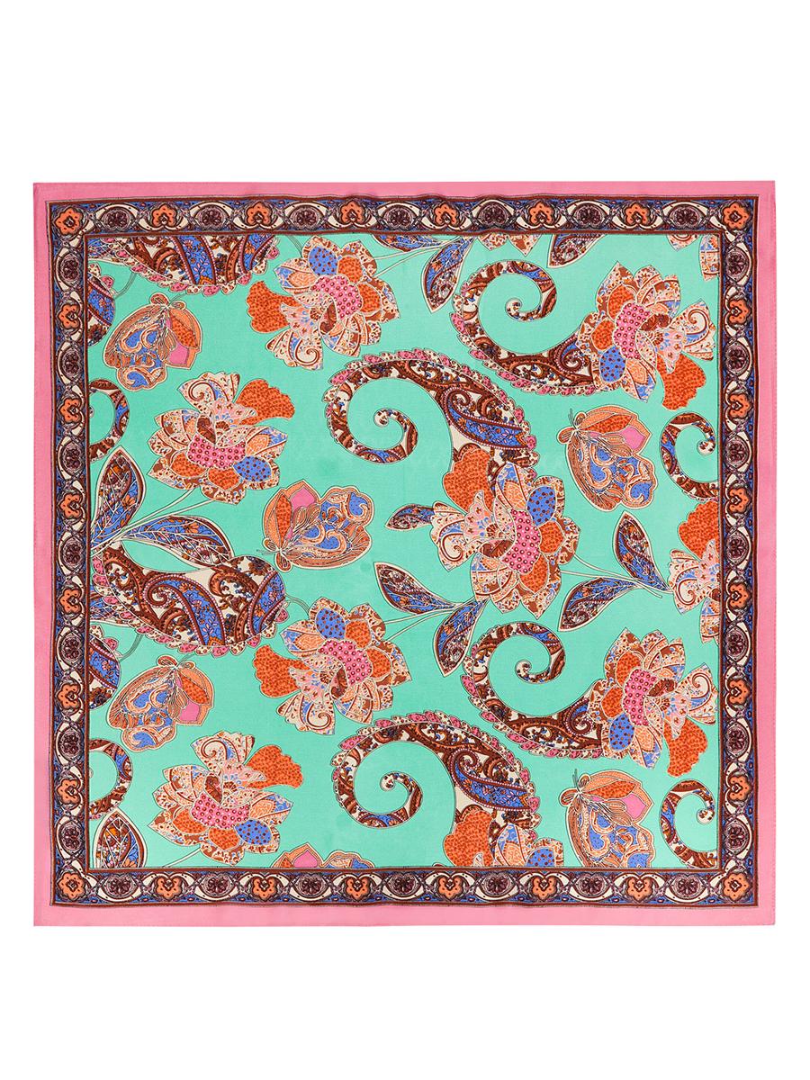 Платок женский Eleganzza, цвет: светло-зеленый, розовый, коричневый. SS03-7765. Размер 53 см х 53 смSS03-7765Стильный женский платок Eleganzza станет великолепным завершением любого наряда. Платок изготовлен из высококачественного шелка и оформлен оригинальным орнаментом с цветочными элементами. Классическая квадратная форма позволяет носить платок на шее, украшать им прическу или декорировать сумочку. Такой платок превосходно дополнит любой наряд и подчеркнет ваш неповторимый вкус и элегантность.