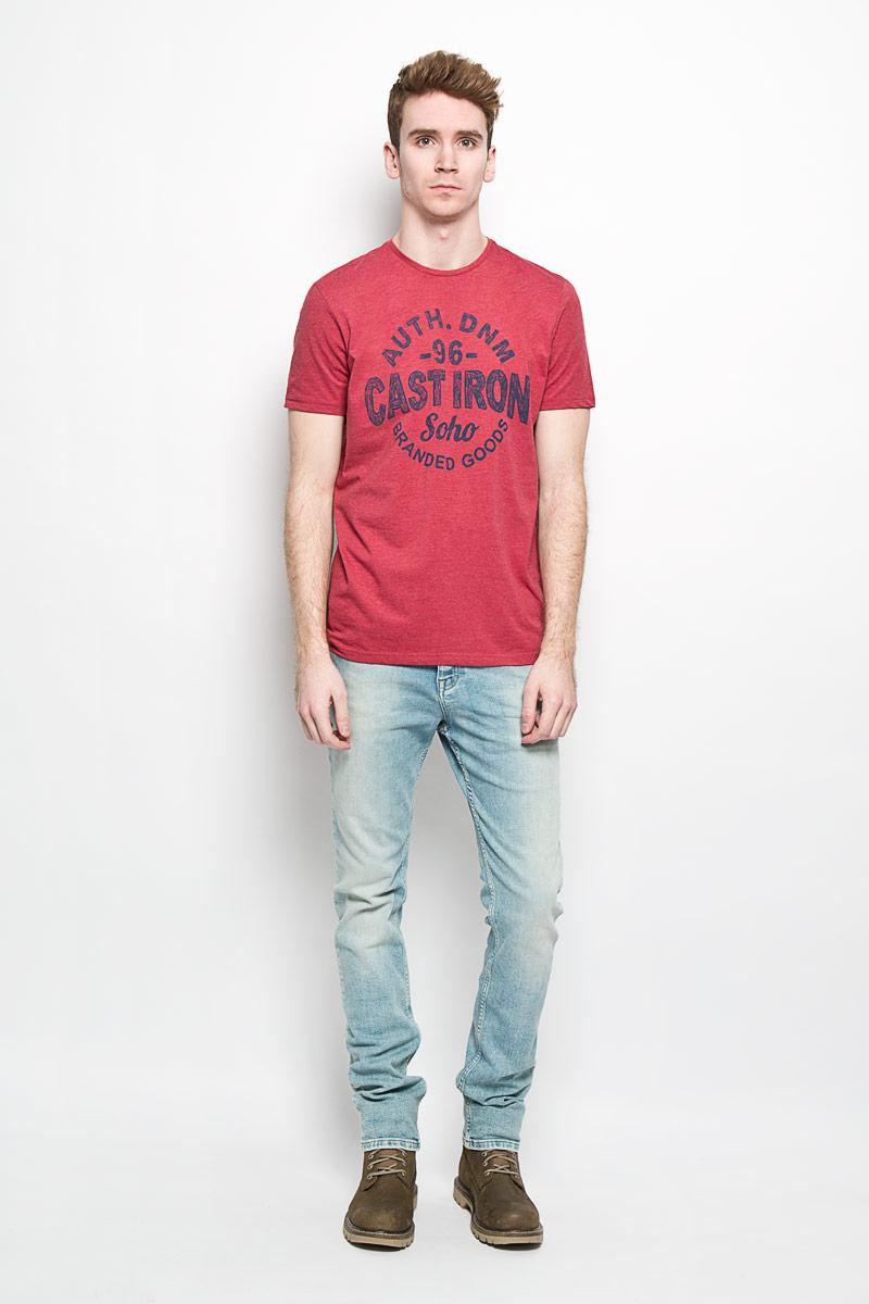 Футболка мужская Top Secret, цвет: бордовый. SPO2694CE. Размер L (50)SPO2694CEОригинальная мужская футболка Top Secret Casual Denim выполнена в современном городском стиле. Модель, изготовленная из высококачественного мягкого материала, не сковывает движения и позволяет коже дышать, обеспечивая наибольший комфорт. Футболка прямого кроя с круглым вырезом горловины оформлена ярким принтом.Идеальный вариант для тех, кто ценит комфорт и качество.