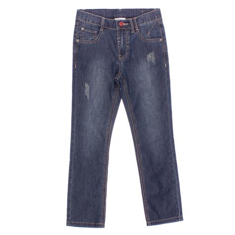 Джинсы для мальчика Scool, цвет: темно-синий. 163055. Размер 146163055Стильные джинсы с эффектом потертости для мальчика. Джинсы прямого кроя и стандартной посадки на талии застегиваются на пуговицу и имеют ширинку на застежке-молнии. Модель представляет собой классическую пятикарманку: два втачных и один маленький накладной кармашек спереди и два накладных кармана сзади. На поясе имеются шлевки для ремня.