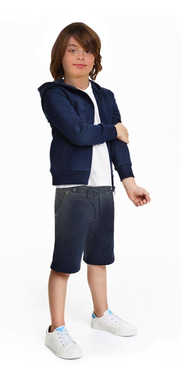 Шорты для мальчика Gino de Luka, цвет: синий джинс. SS16-CFU-BSH-096. Размер 134/140SS16-CFU-BSH-096Удобные шорты для мальчика Gino de Luka идеально подойдут юному моднику для отдыха и прогулок. Изготовленные из натурального хлопка, они мягкие и приятные на ощупь, не сковывают движения и позволяют коже дышать, обеспечивая наибольший комфорт. Модель на талии имеет широкую эластичную резинку, регулируемую шнурком, а также шлевки для ремня. Спереди расположены два втачных кармана. Сзади модель дополнена имитацией кармана, спереди украшена вышитым логотипом бренда. Современный дизайн, отличное качество и расцветка делают эти шорты модным и практичным предметом детской одежды. В них ребенок всегда будет в центре внимания!