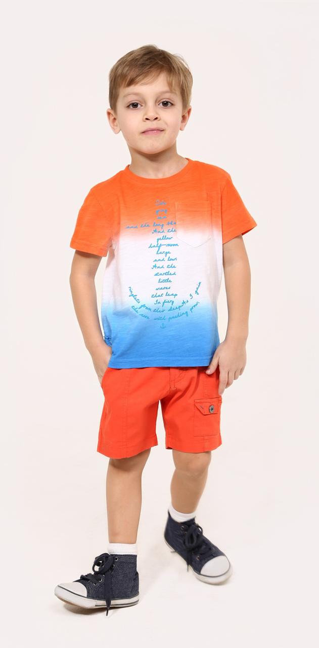 Шорты для мальчика Gino de Luka, цвет: кирпичный. SS16-CRN-BSH-065. Размер 110/116SS16-CRN-BSH-065Стильные шорты для мальчика Gino de Luka идеально подойдут юному моднику для отдыха и прогулок. Изготовленные из эластичного хлопка, они мягкие и приятные на ощупь, не сковывают движения и позволяют коже дышать, обеспечивая наибольший комфорт. Модель на талии застегивается на металлическую пуговицу и имеет ширинку на застежке-молнии, а также шлевки для ремня. С внутренней стороны пояс регулируется скрытой резинкой на пуговицах. Спереди расположены два втачных кармана и один накладной с клапаном на пуговице, сзади - два прорезных кармана. Современный дизайн и расцветка делают эти шорты модным предметом детской одежды. В них ребенок всегда будет в центре внимания!