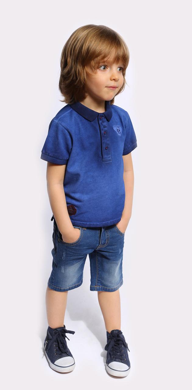 Поло для мальчика Gino de Luka, цвет: синий, голубой. SS16-CFU-BTS-090. Размер 110/116SS16-CFU-BTS-090Футболка-поло для мальчика Gino de Luka идеально подойдет вашему ребенку. Изготовленная из натурального хлопка, она мягкая и приятная на ощупь, не сковывает движения и позволяет коже дышать, обеспечивая наибольший комфорт. Футболка-поло с отложным воротничком и короткими рукавами застегивается сверху на три пуговицы. Воротник и края рукавов выполнены из трикотажной резинки. По бокам модели предусмотрены небольшие разрезы. Изделие украшено нашивками. Яркий дизайн, актуальная цветовая гамма и интересный декор делают эту футболку стильным и модным предметом детской одежды. В ней ваш маленький мужчина всегда будет в центре внимания!