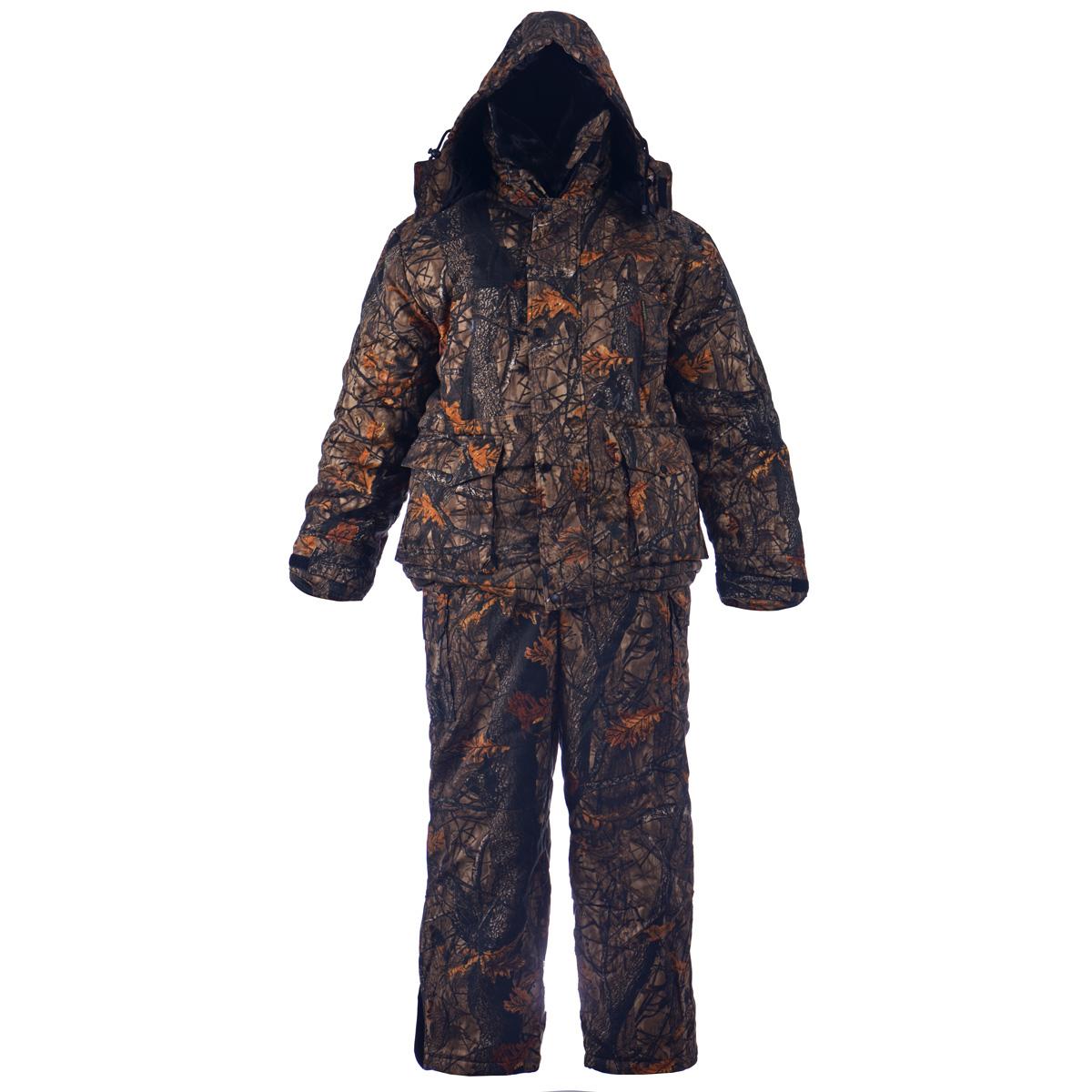 Комплект мужской Huntsman Буран-М: куртка, полукомбинезон, цвет: темный лес. Размер 56/58