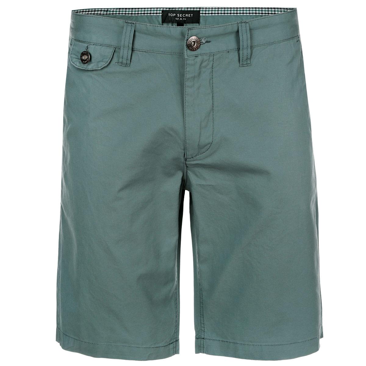 Шорты мужские Top Secret, цвет: бирюзово-зеленый. SSZ0692ZI32. Размер 32 (48)