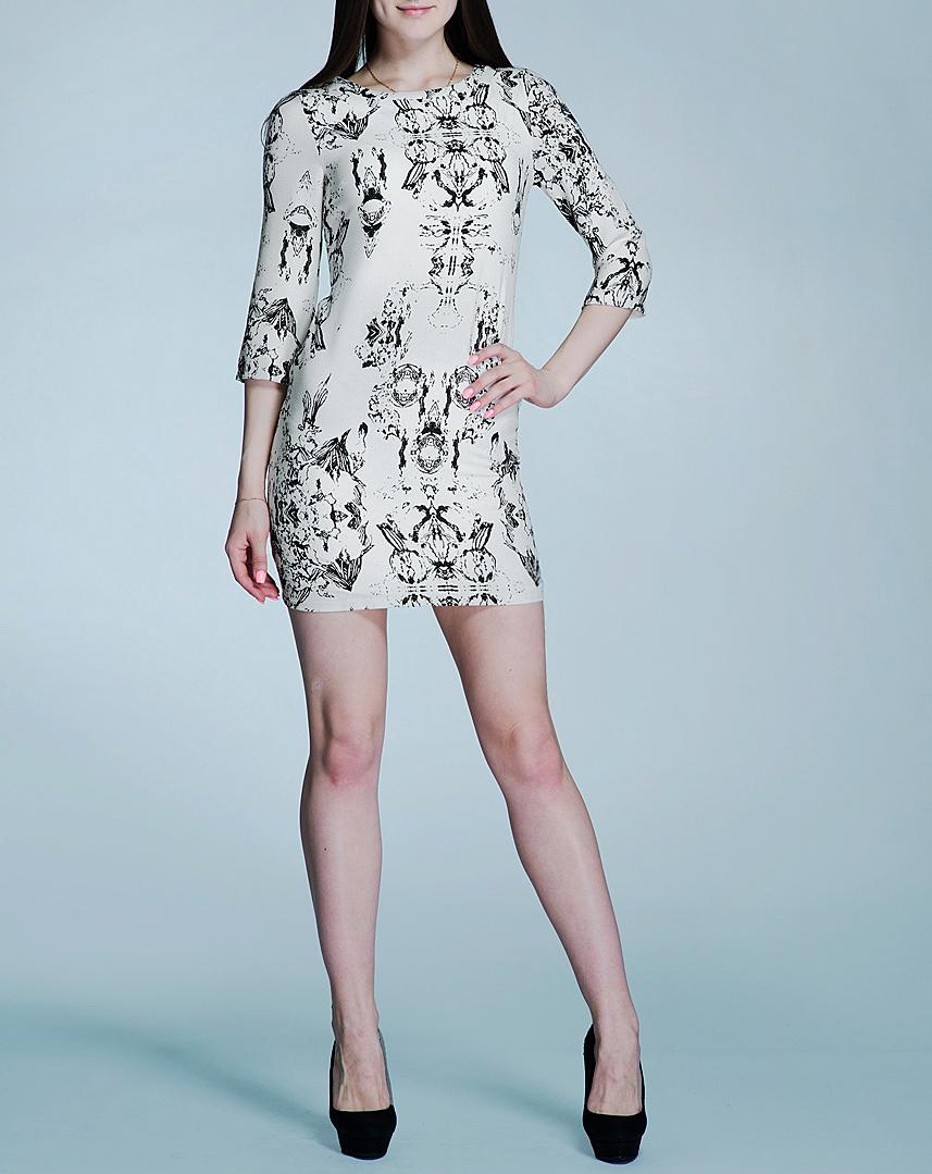 Платье ICHI, цвет: молочный. 100837. Размер 36 (42/44)100837Элегантное женское платье Blend She не содержит ничего лишнего - и именно поэтому оно создает притягательный образ, главным акцентом которого является роскошная простота. Изделие изготовлено из практичного полиэстера с добавлением эластана. На спинке расположена потайная застежка-молния. Модель приталенного силуэта с круглым вырезом и длинными рукавами. Стильное платье придаст вашему облику очарования, подчеркнув его утонченность и соблазнительность.