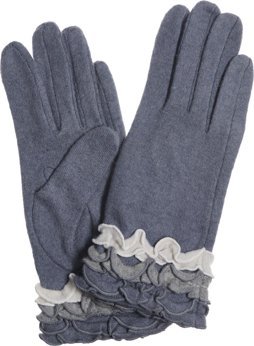 Перчатки женские Labbra, цвет: темно-серый. LB-PH-36. Размер S (6,5)LB-PH-36Элегантные женские перчатки Labbra станут великолепным дополнением вашего образа и защитят ваши руки от холода и ветра во время прогулок.Перчатки выполнены из плотного шерстяного трикотажа. Модель оформлена декоративным оборками. Такие перчатки будут оригинальным завершающим штрихом в создании современного модного образа, они подчеркнут ваш изысканный вкус и станут незаменимым и практичным аксессуаром.