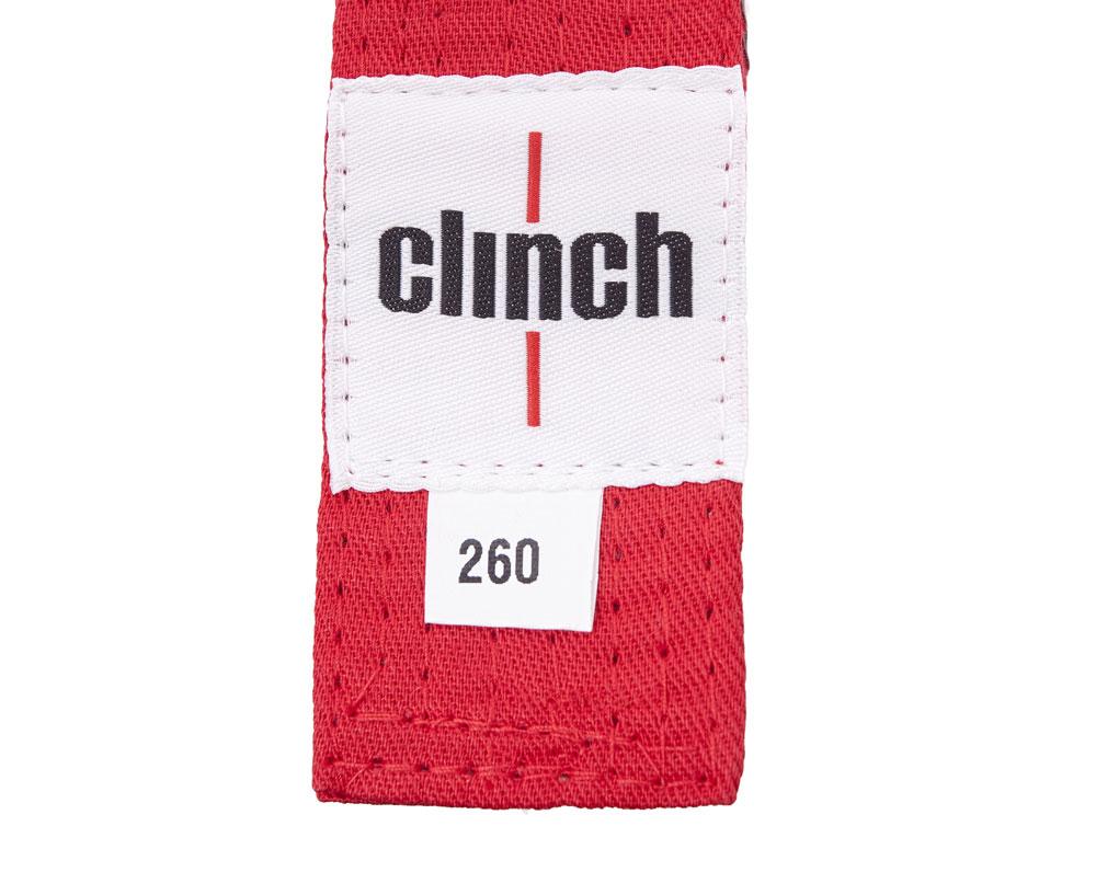 Пояс для единоборств Clinch Budo Belt, цвет: красный, 260 смC303Пояс универсальный для единоборств Budo Belt изготовлен из натурального хлопка. Пояс имеет стойкое окрашивание, простроченный - 8 строчек. Ширина 4,5 см, жесткий.