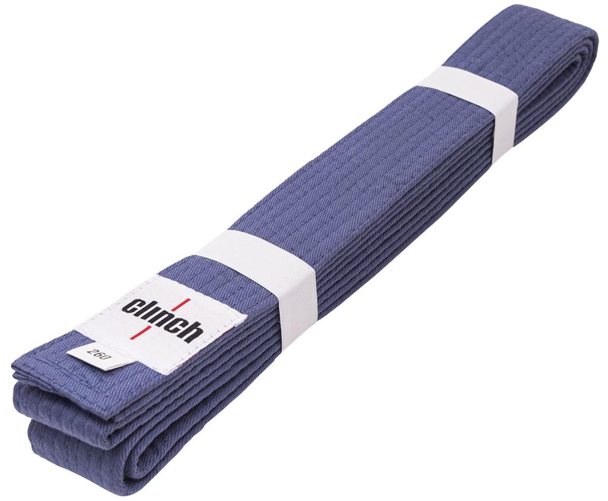 Пояс для единоборств Clinch Budo Belt, цвет: синий, 260 смC303Пояс универсальный для единоборств Budo Belt изготовлен из натурального хлопка. Пояс имеет стойкое окрашивание, простроченный - 8 строчек. Ширина 4,5 см, жесткий.