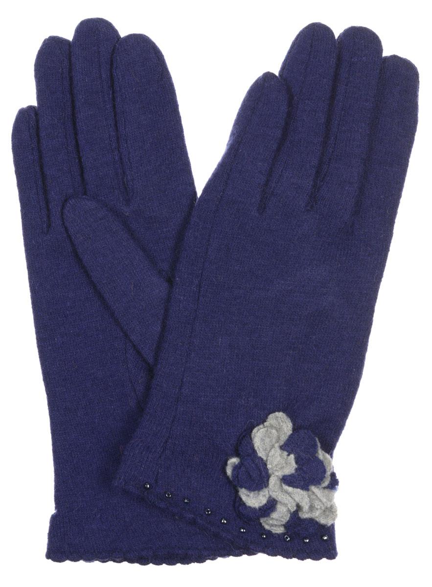 Перчатки женские Labbra, цвет: синий. LB-PH-33. Размер S (6,5)LB-PH-33Элегантные женские перчатки Labbra станут великолепным дополнением вашего образа и защитят ваши руки от холода и ветра во время прогулок.Они выполнены из плотного шерстяного трикотажа. Модель оформлена декоративным трикотажным цветком, края манжеты украшены бисером. Такие перчатки будут оригинальным завершающим штрихом в создании современного модного образа, они подчеркнут ваш изысканный вкус и станут незаменимым и практичным аксессуаром.