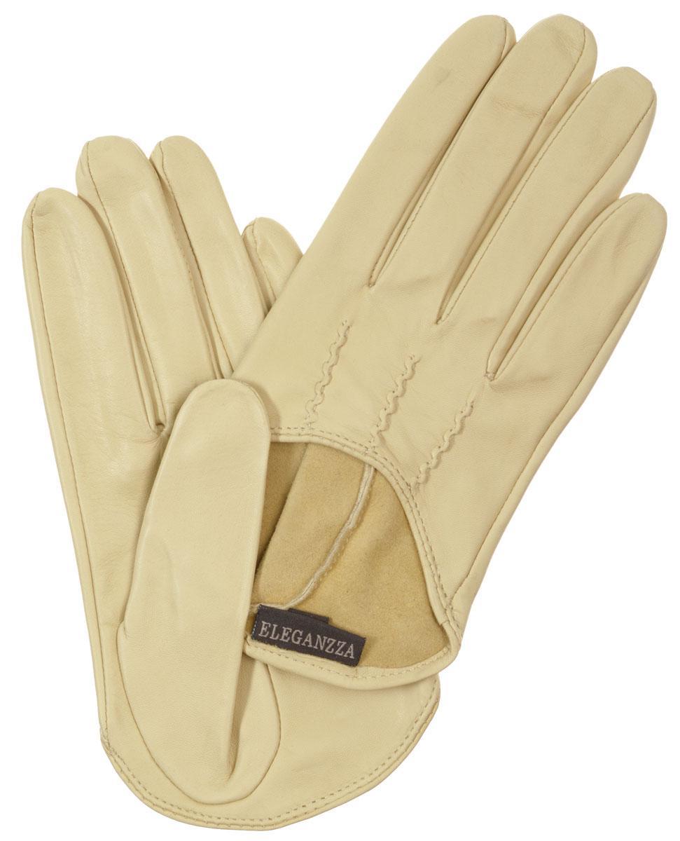 Перчатки женские Eleganzza, цвет: светло-бежевый. IS02002. Размер 7IS02002Стильные женские перчатки Eleganzza не только защитят ваши руки, но и станут великолепным украшением. Они выполнены из мягкой и приятной на ощупь кожи. На внешней стороне - декоративный вырез и шов 3 луча.Такие перчатки станут идеальным аксессуаром, дополняющим ваш стиль и неповторимость.