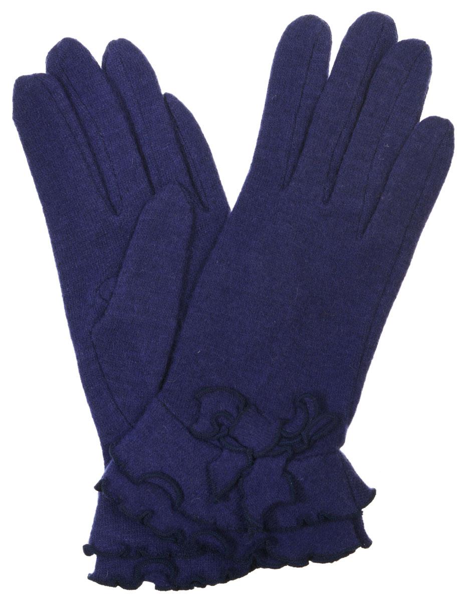 Перчатки женские Labbra, цвет: синий. LB-PH-32. Размер S (6,5)LB-PH-32Элегантные женские перчатки Labbra станут великолепным дополнением вашего образа и защитят ваши руки от холода и ветра во время прогулок.Перчатки выполнены из плотного шерстяного трикотажа. Модель оформлена декоративным бантиком и строчкой оверлок по краям манжеты. Такие перчатки будут оригинальным завершающим штрихом в создании современного модного образа, они подчеркнут ваш изысканный вкус и станут незаменимым и практичным аксессуаром.