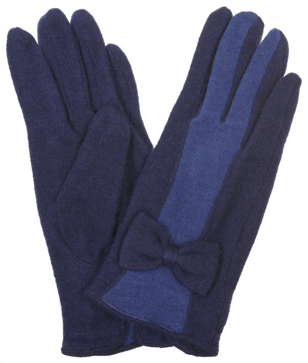 Перчатки женские Labbra, цвет: темно-синий, синий. LB-PH-39. Размер S (6,5)LB-PH-39Элегантные женские перчатки Labbra станут великолепным дополнением вашего образа и защитят ваши руки от холода и ветра во время прогулок.Перчатки выполнены из плотного шерстяного трикотажа. Модель оформлена декоративным бантиком на манжете и контрастным переходом цветов на лицевой стороне модели. Такие перчатки будут оригинальным завершающим штрихом в создании современного модного образа, они подчеркнут ваш изысканный вкус и станут незаменимым и практичным аксессуаром.
