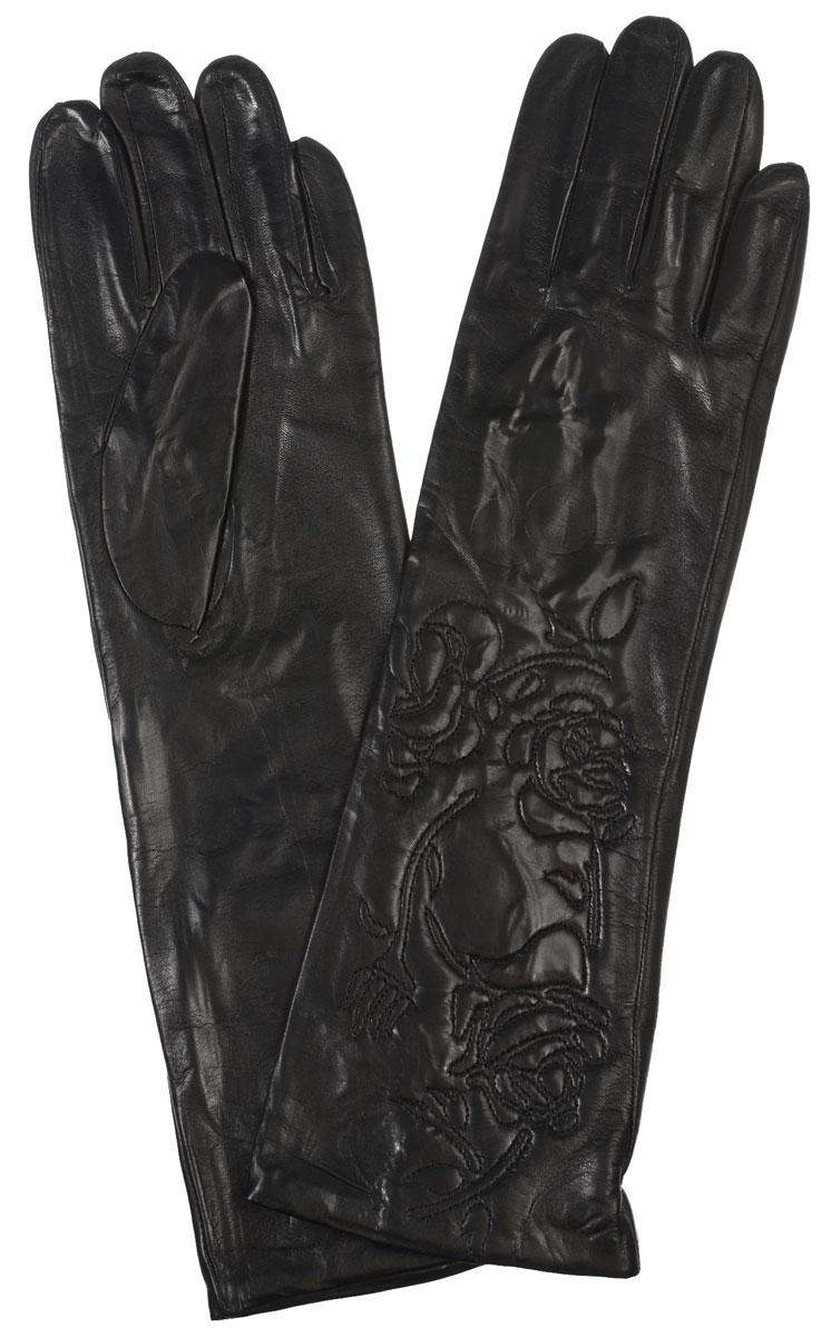 Перчатки женские Eleganzza, цвет: черный. IS1291-sh. Размер 7IS1291-shЭлегантные удлиненные женские перчатки Eleganzza станут великолепным дополнением вашего образа и защитят ваши руки от холода и ветра во время прогулок.Перчатки выполнены из натуральной кожи ягненка. Модель декорирована вышитыми розами. Такие перчатки будут оригинальным завершающим штрихом в создании современного модного образа, они подчеркнут ваш изысканный вкус и станут незаменимым и практичным аксессуаром.