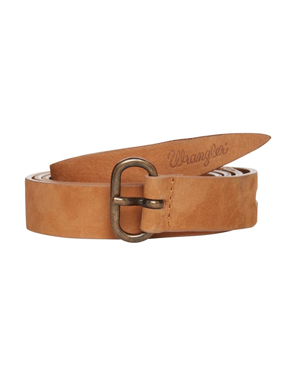 Ремень женский Wrangler, цвет: светло-коричневый. W0A09UK81. Размер 85W0A09UK81Стильный широкий ремень Wrangler выполнен из натуральной кожи. Пряжка, с помощью которой регулируется длина ремня, выполнена из качественного металла.
