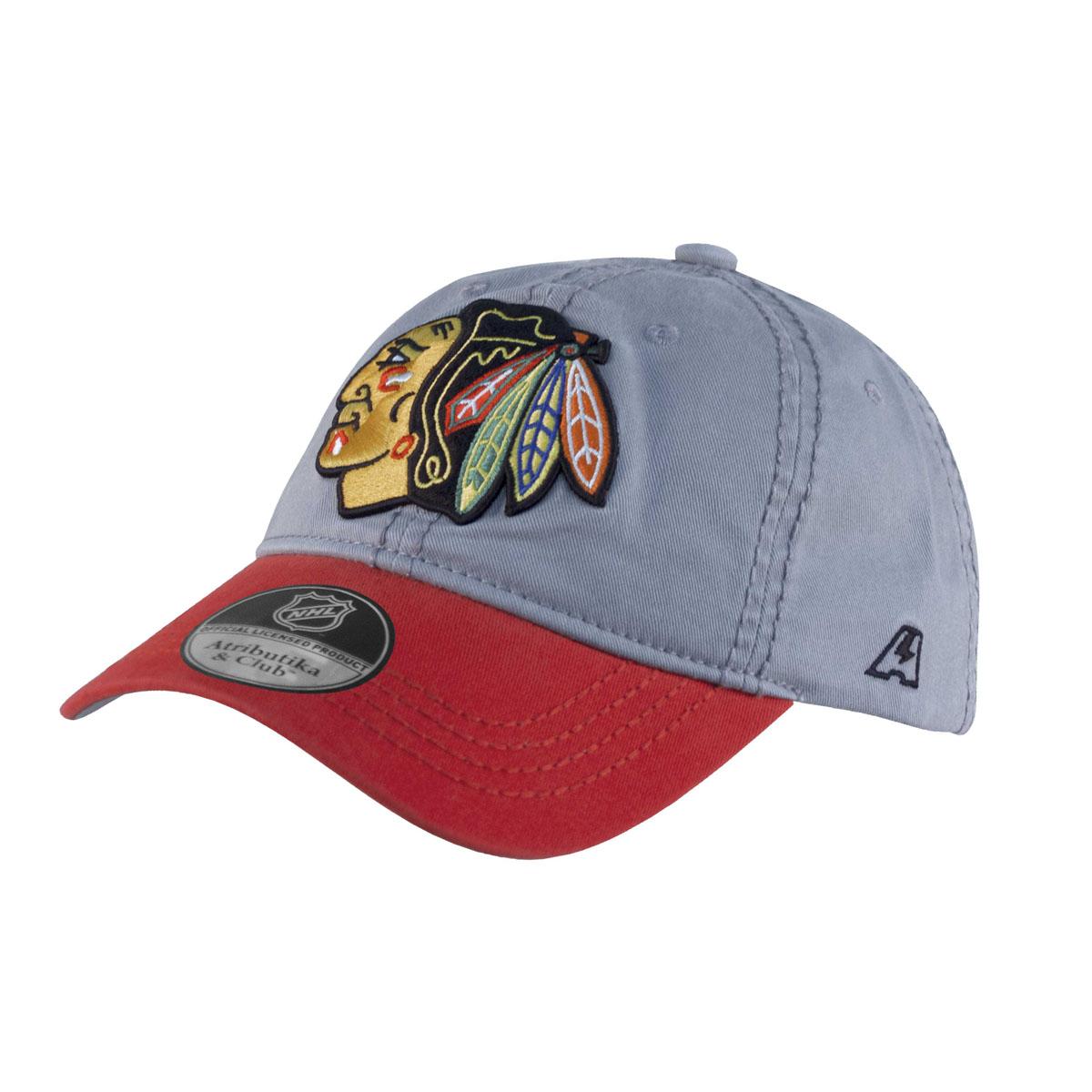 Бейсболка NHL Chicago Blackhawks, цвет: серо-красный. 2906. Размер L\XL (55-58)2906Все изображения - вышиты. Металлический фиксатор с гравировкой логотипа. Состав:100% хлопок