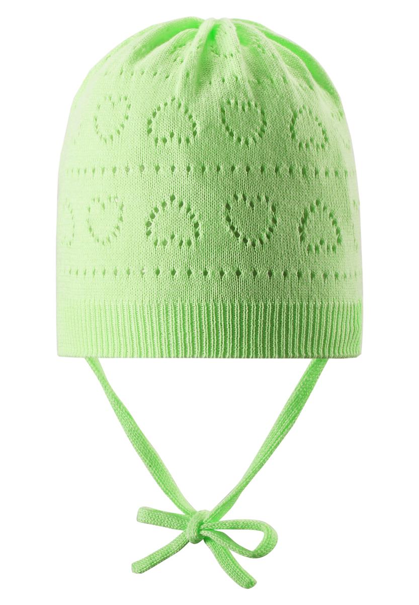 Шапка-бини для девочки Reima Mellow, цвет: салатовый. 518345-8380. Размер 46 reima демисезонная для девочки mellow supreme pink