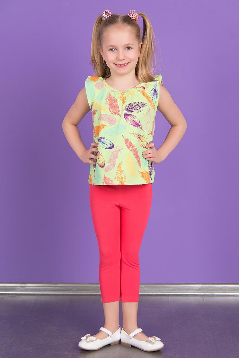 Леггинсы для девочки Detiland, цвет: розовый. SS16-DLUZ-585. Размер 98SS16-DLUZ-585Укороченные леггинсы для девочки Detiland изготовлены из эластичного хлопка. Леггинсы имеют широкую эластичную резинку на поясе.