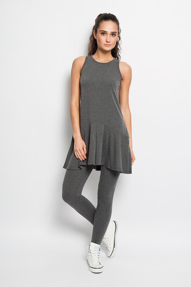 Платье для фитнеса женское Grishko, цвет: емно-серый меланж. AL- 2766. Размер 44