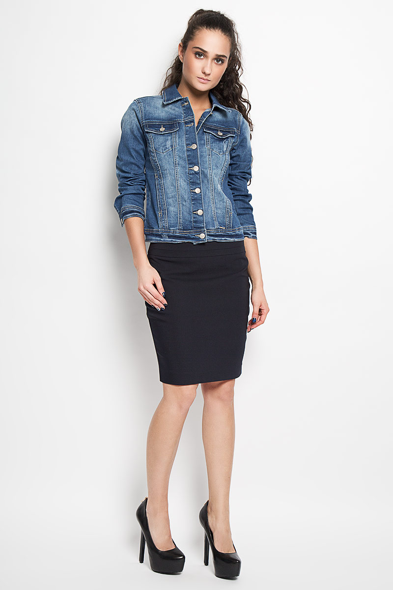 Юбка Top Secret, цвет: черный. SSD0934GR. Размер 34 (40)SSD0934GRСтильная юбка Top Secret изготовлена из хлопка с добавлением полиэстера и эластана. Юбка-карандаш длиной до колена подчеркнет все достоинства вашей фигуры. Сзади юбка дополнена небольшим разрезом и застегивается на потайную молнию в среднем шве. Эта модная юбка - отличный вариант на каждый день.