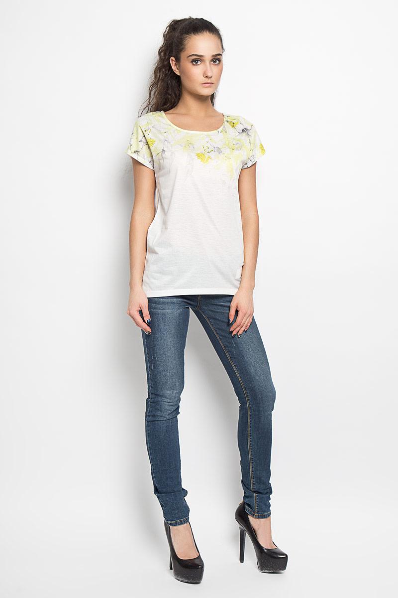 Футболка женская Troll, цвет: белый. TPO1342BI. Размер S (44)TPO1342BIМодная женская футболка Troll, выполненная из высококачественного материала, придется вам по душе.Модель с короткими рукавами-кимоно и круглым вырезом горловины - идеальный вариант для создания стильного образа. В верхней части изделие оформлено цветочным принтом. Спинка футболки немного удлинена.Такая модель подарит вам комфорт в течение всего дня и послужит замечательным дополнением к вашему гардеробу.