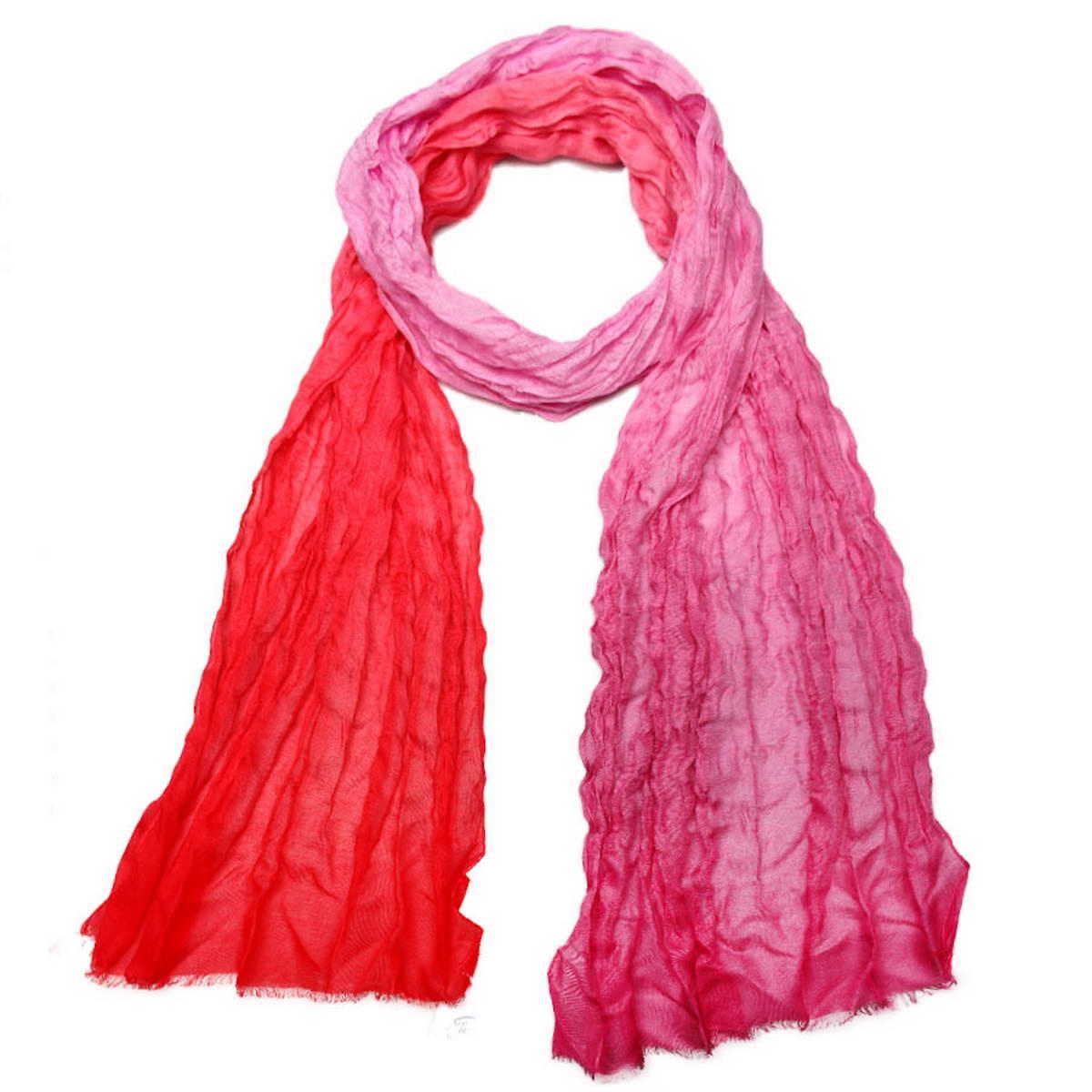 Шарф женский Venera, цвет: красный, розовый. 3400152. Размер 45 см х 190 см3400152Модный женский шарф Venera подарит вам уют и станет стильным аксессуаром, который призван подчеркнуть вашу индивидуальность и женственность. Тонкий шарф выполнен из высококачественного модала, он невероятно мягкий и приятный на ощупь. Шарф оформлен изысканными цветовыми переходами.Этот модный аксессуар гармонично дополнит образ современной женщины, следящей за своим имиджем и стремящейся всегда оставаться стильной и элегантной. Такой шарф украсит любой наряд и согреет вас в непогоду, с ним вы всегда будете выглядеть изысканно и оригинально.