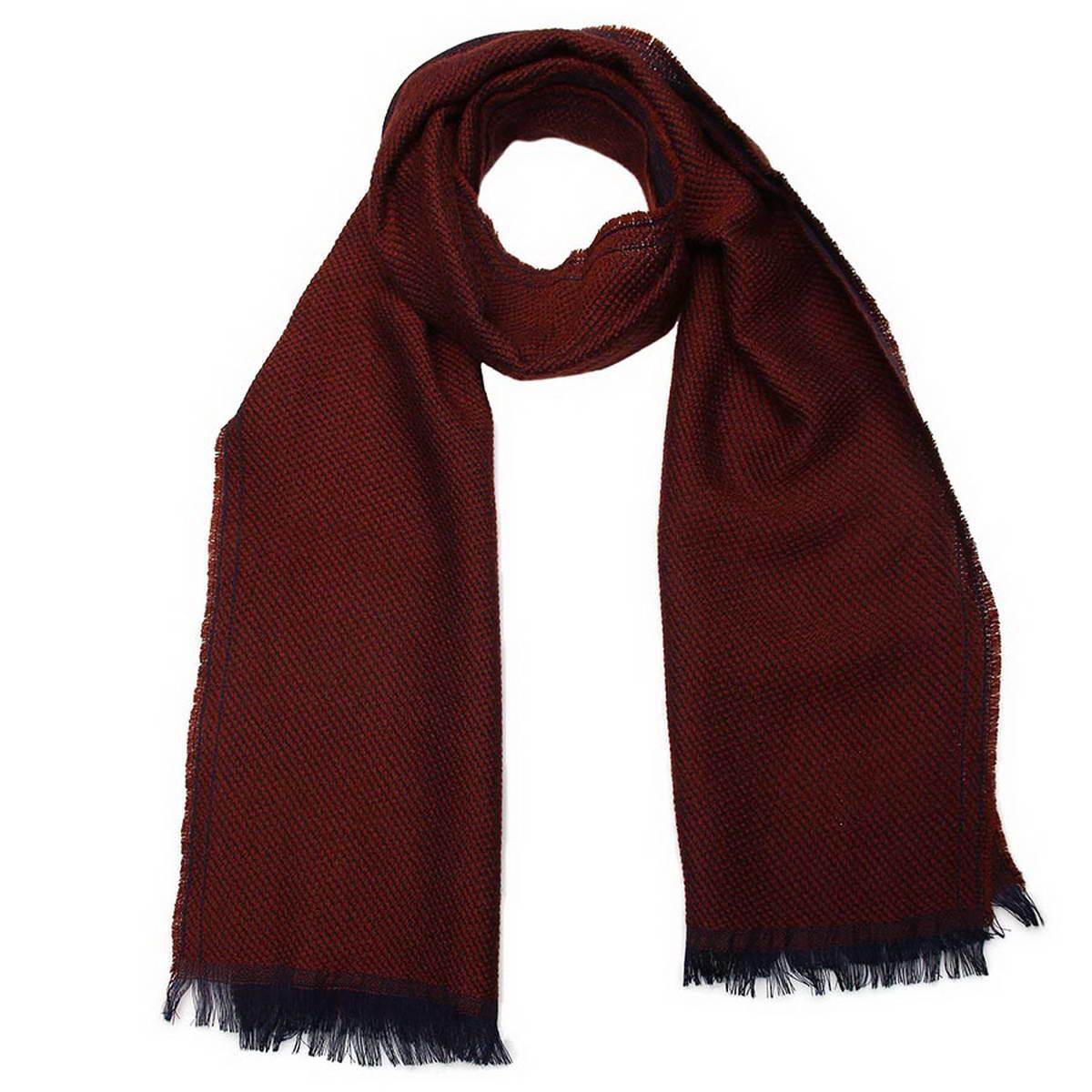 Шарф мужской Venera, цвет: темно-коричневый. 5001832-10. Размер 30 см х 160 см5001832-10Стильный мужской шарф Venera будет прекрасно согревать в осеннюю прохладу и морозы. Шарф выполнен из натуральной шерсти и оформлен по краям бахромой. Классический шарф идеально дополнит мужской образ, а ненавязчивый дизайн сделает аксессуар универсальной вещью, которая удачно дополнит любую верхнюю одежду мужчины, подчеркнет неповторимый вкус и элегантность.