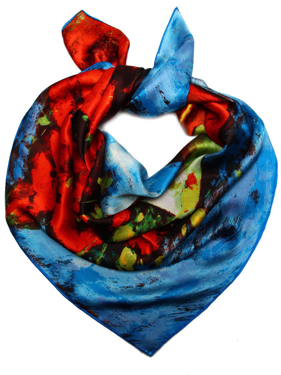 Платок женский Venera, цвет: красный, синий, салатовый. 1810912-14. Размер 90 см х 90 см1810912-14Стильный женский платок Venera станет великолепным завершением любого наряда. Платок изготовлен из высококачественного 100% шелка и оформлен изображением знаменитой картина Ван Гога Маки. Изысканный принт подчеркнет безупречность вашего наряда и непременно вызовет восторг окружаюющих.Классическая квадратная форма позволяет носить платок на шее, украшать им прическу или декорировать сумочку. Легкий, мягкий и шелковистый платок поможет вам создать изысканный женственный образ, а также согреет в непогоду. Такой платок превосходно дополнит любой наряд и подчеркнет ваш неповторимый вкус и элегантность.