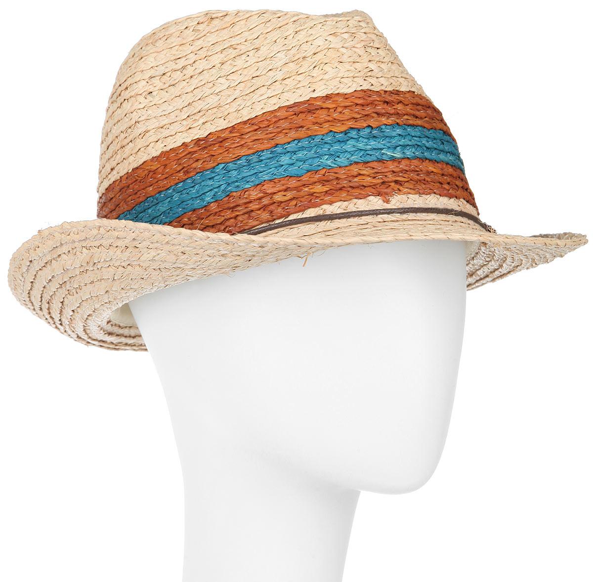 Шляпа мужская Canoe Bahamas, цвет: бежевый, коричневый, синий. 1966020. Размер 591966020Классическая шляпа Canoe Bahamas непременно украсит любой наряд.Шляпа из натуральной соломы оформлена тонким переплетенным ремешком вокруг тульи. Благодаря своей форме, шляпа удобно садится по голове и подойдет к любому стилю. Плетение шляпы позволяет ей пропускать воздух, что обеспечивает необходимую вентиляцию.Такая шляпа подчеркнет вашу неповторимость и дополнит ваш повседневный образ.