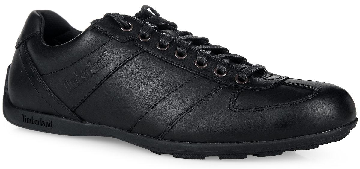 Полуботинки мужские Timberland Leather Oxford, цвет: черный. TBL9715AM. Размер 11 (44)TBL9715AMСтильные полуботинки Leather Oxford от Timberland не оставят вас равнодушным! Модель, выполненная из натуральной кожи, оформлена сбоку и на язычке - фирменными тиснениями. Удобная шнуровка прочно зафиксирует модель на ноге. Стелька Anti-Fatigue из материала EVA с текстильной поверхностью обеспечивает комфорт при движении и отличную амортизацию. Рифление на подошве гарантирует отличное сцепление с любой поверхностью. Стильные полуботинки прекрасно дополнят ваш модный образ и подчеркнут отменный вкус.