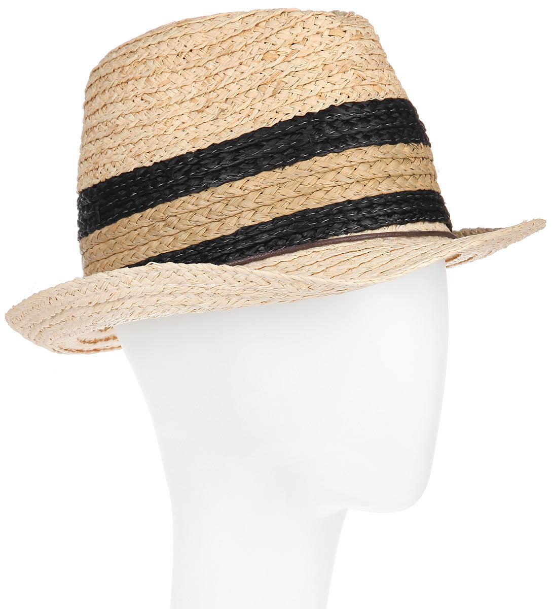 Шляпа женская Canoe Bahamas, цвет: бежевый, черный. 1966029. Размер 591966029Классическая шляпа Canoe Bahamas непременно украсит любой наряд.Шляпа из натуральной соломы оформлена тонким переплетенным ремешком вокруг тульи. Благодаря своей форме, шляпа удобно садится по голове и подойдет к любому стилю. Плетение шляпы позволяет ей пропускать воздух, что обеспечивает необходимую вентиляцию.Такая шляпа подчеркнет вашу неповторимость и дополнит ваш повседневный образ.