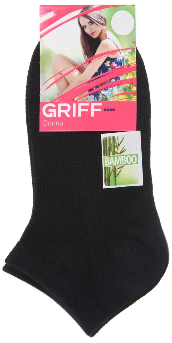 Носки женские Griff Бамбук, цвет: черный. D4U5. Размер 35/38D4U5Женские укороченные носки Griff изготовлены из высококачественного сырья. Однотонные носки очень мягкие на ощупь, а широкая резинка плотно облегает ногу, не сдавливая ее, благодаря чему вам будет комфортно и удобно. Усиленная пятка и мысок обеспечивают надежность и долговечность.