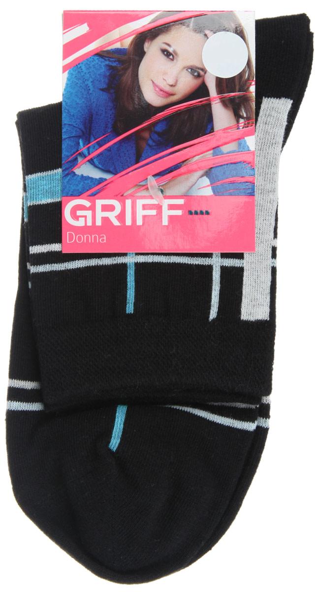 Носки женские Griff Линии, цвет: черный. D58. Размер 35/38D58Женские носки Griff Линии изготовлены из высококачественного сырья. Носки очень мягкие на ощупь, а широкая резинка плотно облегает ногу, не сдавливая ее, благодаря чему вам будет комфортно и удобно. Усиленная пятка и мысок обеспечивают надежность и долговечность.Носки оформлены оригинальным принтом.