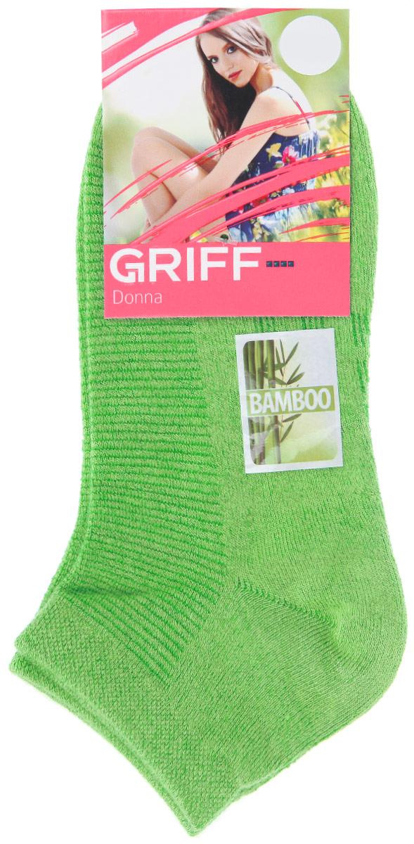 Носки женские Griff Бамбук, цвет: зеленый. D4U5. Размер 39/41D4U5Женские укороченные носки Griff изготовлены из высококачественного сырья. Однотонные носки очень мягкие на ощупь, а широкая резинка плотно облегает ногу, не сдавливая ее, благодаря чему вам будет комфортно и удобно. Усиленная пятка и мысок обеспечивают надежность и долговечность.
