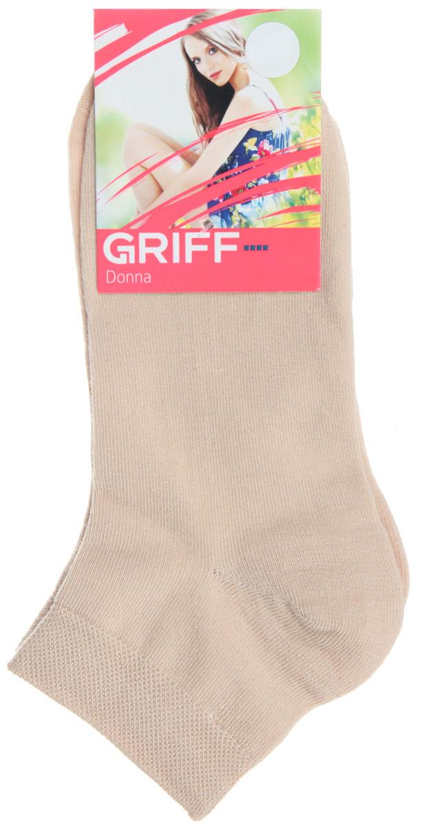 Носки женские Griff Donna, цвет: бежевый. D4U3. Размер 39/41D4U3Женские укороченные носки Griff изготовлены из высококачественного сырья. Однотонные носки очень мягкие на ощупь, а широкая резинка плотно облегает ногу, не сдавливая ее, благодаря чему вам будет комфортно и удобно. Усиленная пятка и мысок обеспечивают надежность и долговечность.