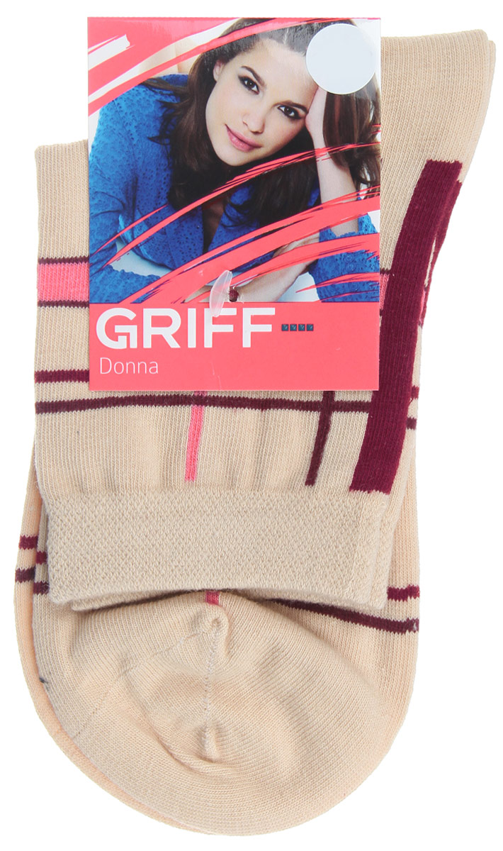 Носки женские Griff Линии, цвет: бежевый. D58. Размер 35/38D58Женские носки Griff Линии изготовлены из высококачественного сырья. Носки очень мягкие на ощупь, а широкая резинка плотно облегает ногу, не сдавливая ее, благодаря чему вам будет комфортно и удобно. Усиленная пятка и мысок обеспечивают надежность и долговечность.Носки оформлены оригинальным принтом.