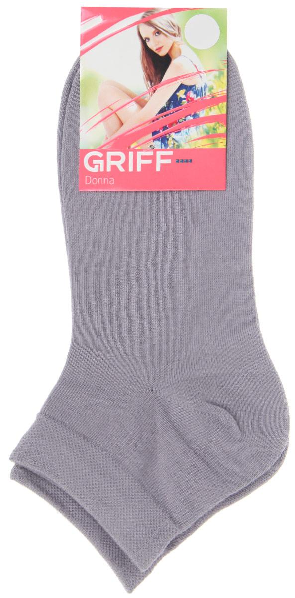 Носки женские Griff Donna, цвет: серый. D4U3. Размер 39/41D4U3Женские укороченные носки Griff изготовлены из высококачественного сырья. Однотонные носки очень мягкие на ощупь, а широкая резинка плотно облегает ногу, не сдавливая ее, благодаря чему вам будет комфортно и удобно. Усиленная пятка и мысок обеспечивают надежность и долговечность.
