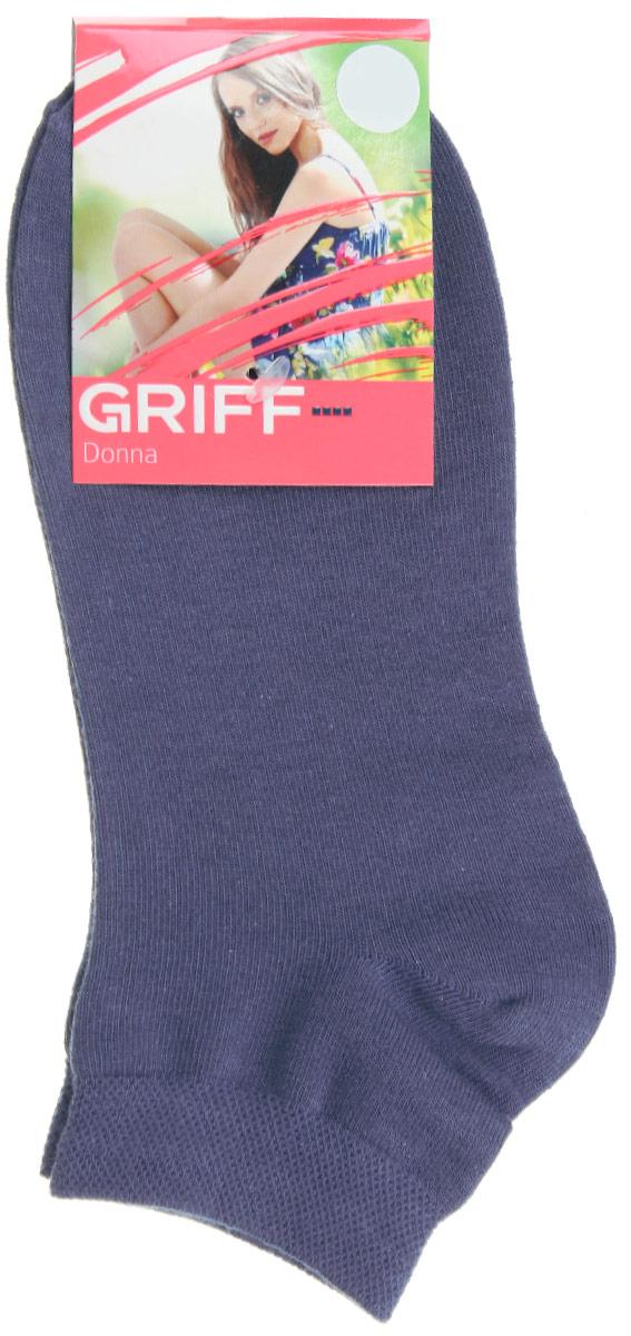 Носки женские Griff Donna, цвет: синий. D4U3. Размер 39/41D4U3Женские укороченные носки Griff изготовлены из высококачественного сырья. Однотонные носки очень мягкие на ощупь, а широкая резинка плотно облегает ногу, не сдавливая ее, благодаря чему вам будет комфортно и удобно. Усиленная пятка и мысок обеспечивают надежность и долговечность.
