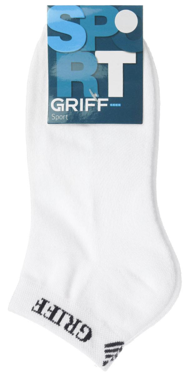 Носки мужские Griff Sport, цвет: белый. S1. Размер 45/47S1Мужские укороченные носки Griff Sport изготовлены из хлопка с микроплюшем по стопе, которые обеспечивают великолепную посадку. Удобная широкая резинка идеально облегает ногу и не пережимает сосуды, усиленные пятка и мысок повышают износоустойчивость носка.