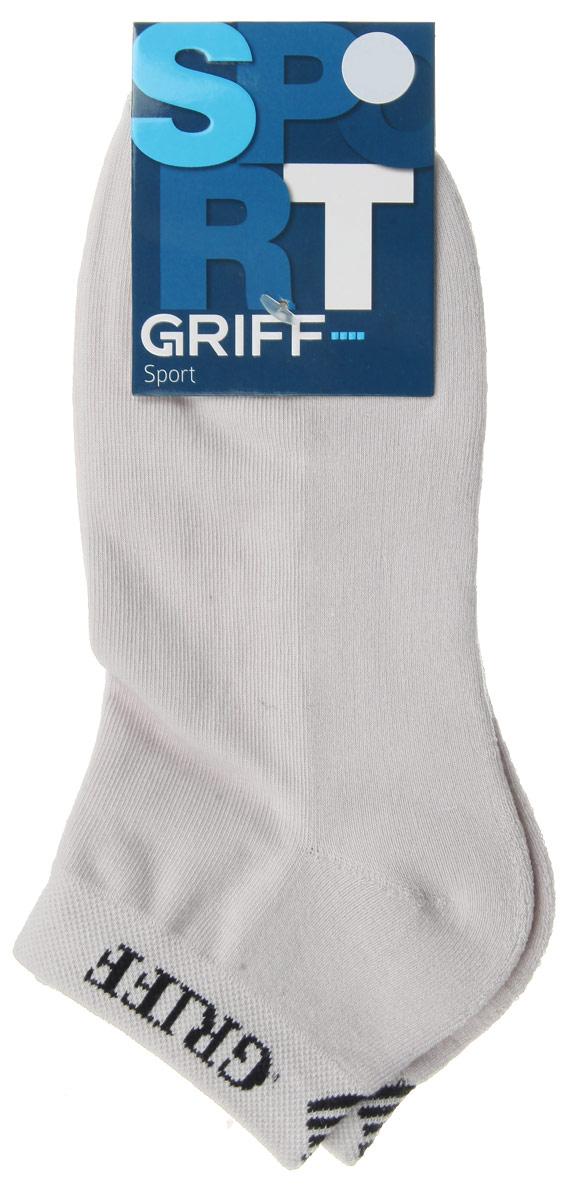 Носки мужские Griff Sport, цвет: светло-серый. S1. Размер 36/38S1Мужские укороченные носки Griff Sport изготовлены из хлопка с микроплюшем по стопе, которые обеспечивают великолепную посадку. Удобная широкая резинка идеально облегает ногу и не пережимает сосуды, усиленные пятка и мысок повышают износоустойчивость носка.