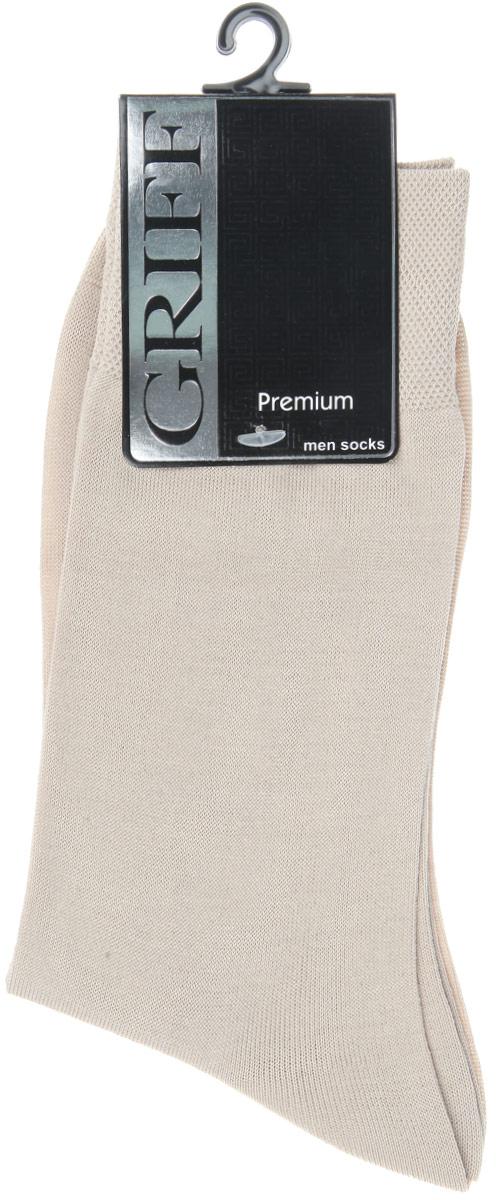 Носки мужские Griff Premium, цвет: бежевый. E1. Размер 42/44  цена