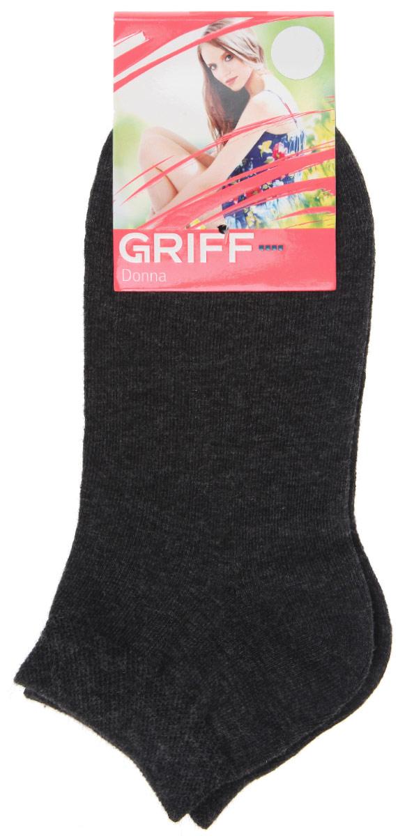 Носки женские Griff Donna, цвет: черный. D4U3. Размер 35/38D4U3Женские укороченные носки Griff изготовлены из высококачественного сырья. Однотонные носки очень мягкие на ощупь, а широкая резинка плотно облегает ногу, не сдавливая ее, благодаря чему вам будет комфортно и удобно. Усиленная пятка и мысок обеспечивают надежность и долговечность.