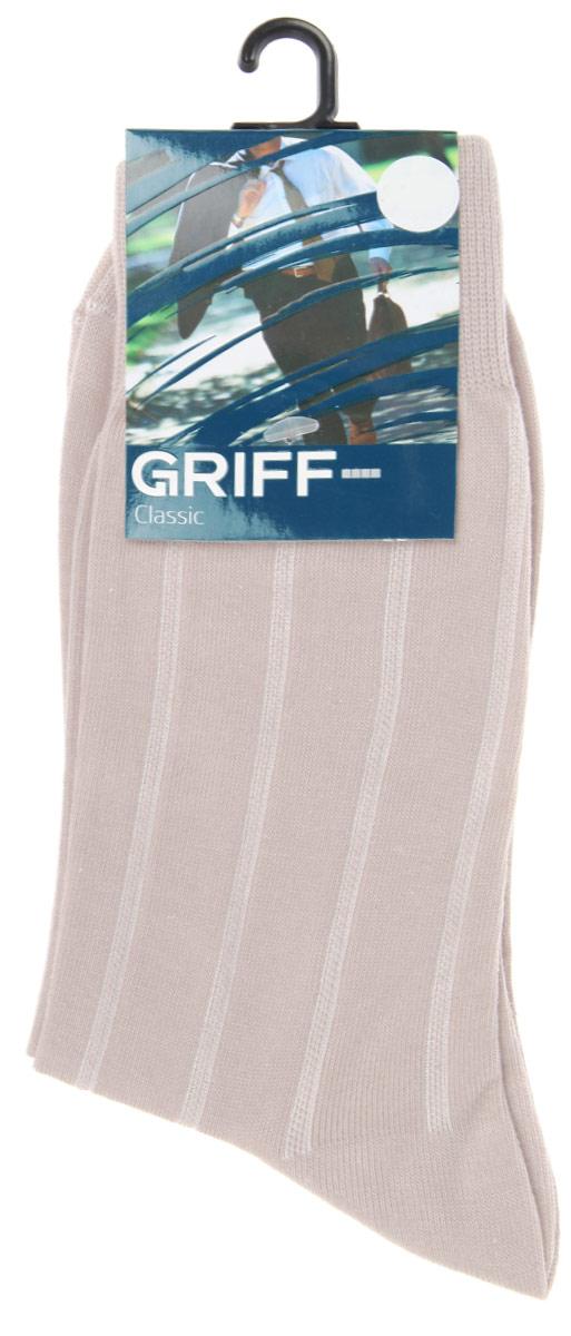 Носки мужские Griff Classic, цвет: светло-серый. A41. Размер 45/47A41Мужские носки Griff Classic, вывязанные техникой платировки, изготовлены из высококачественного сырья с добавлением полиамидных волокон, которые обеспечивают великолепную посадку. Носки отличаются элегантным внешним видом. Удобная широкая резинка идеально облегает ногу и не пережимает сосуды, усиленные пятка и мысок повышают износоустойчивость носка, а удлиненный паголенок придает более эстетичный вид.