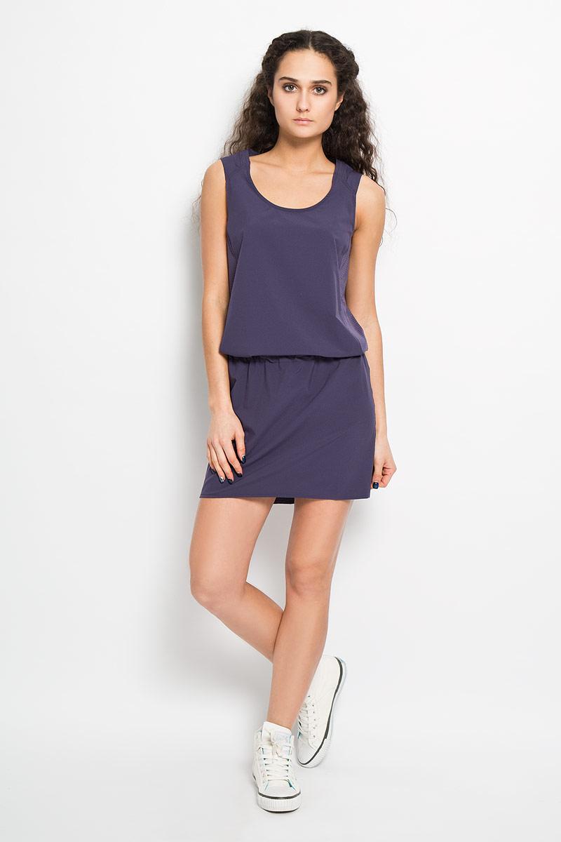 Платье Salomon Nomad Dress, цвет: фиолетовый. L37975100. Размер S (40/42)L37975100Спортивное платье Nomad Dress, выполненное из высококачественного материала, воплощает функциональный подход к легкой летней одежде для женщин. Эластичное, дышащее и элегантное, оно прекрасно подходит для походов, пробежек или прогулок в летнюю погоду. Трехуровневая структура материала AdvancedSkin ActiveDry обеспечивает максимальный доступ воздуха и отводит испарения от тела. Модель без рукавов с круглым вырезом горловины на спинке и по бокам оформлена дышащими вставками. Проймы рукавов дополнены пристроченными отворотами. Спинка немного удлинена. На заниженной талии предусмотрена скрытая резинка со стоппером. Сзади изделие декорировано небольшой термоаппликацией в виде логотипа бренда. Платье Salomon Nomad Dress воплощает функциональный подход к легкой летней одежде для женщин. Такая модель станет незаменимой вещью в вашем гардеробе.