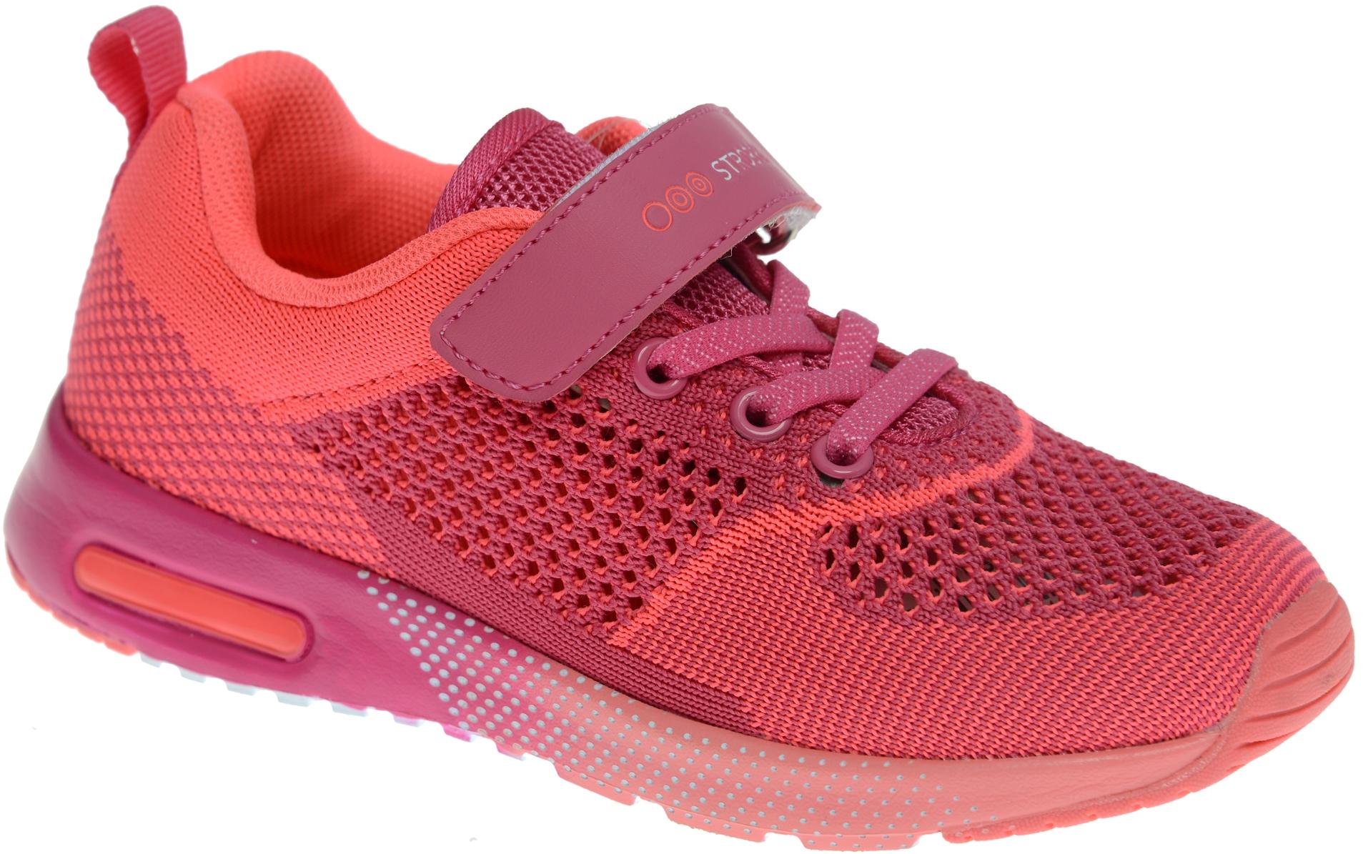 Кроссовки для девочки Strobbs, цвет: коралловый. N1548-11. Размер 32N1548-11Стильные кроссовки для девочки Strobbs отлично подойдут для активного отдыха и повседневной носки. Верх модели выполнен из вязаного текстиля. Удобная шнуровка и хлястик на липучке надежно зафиксируют модель на стопе. Особая форма подошвы обеспечит удобство при ходьбе и отличную амортизацию.