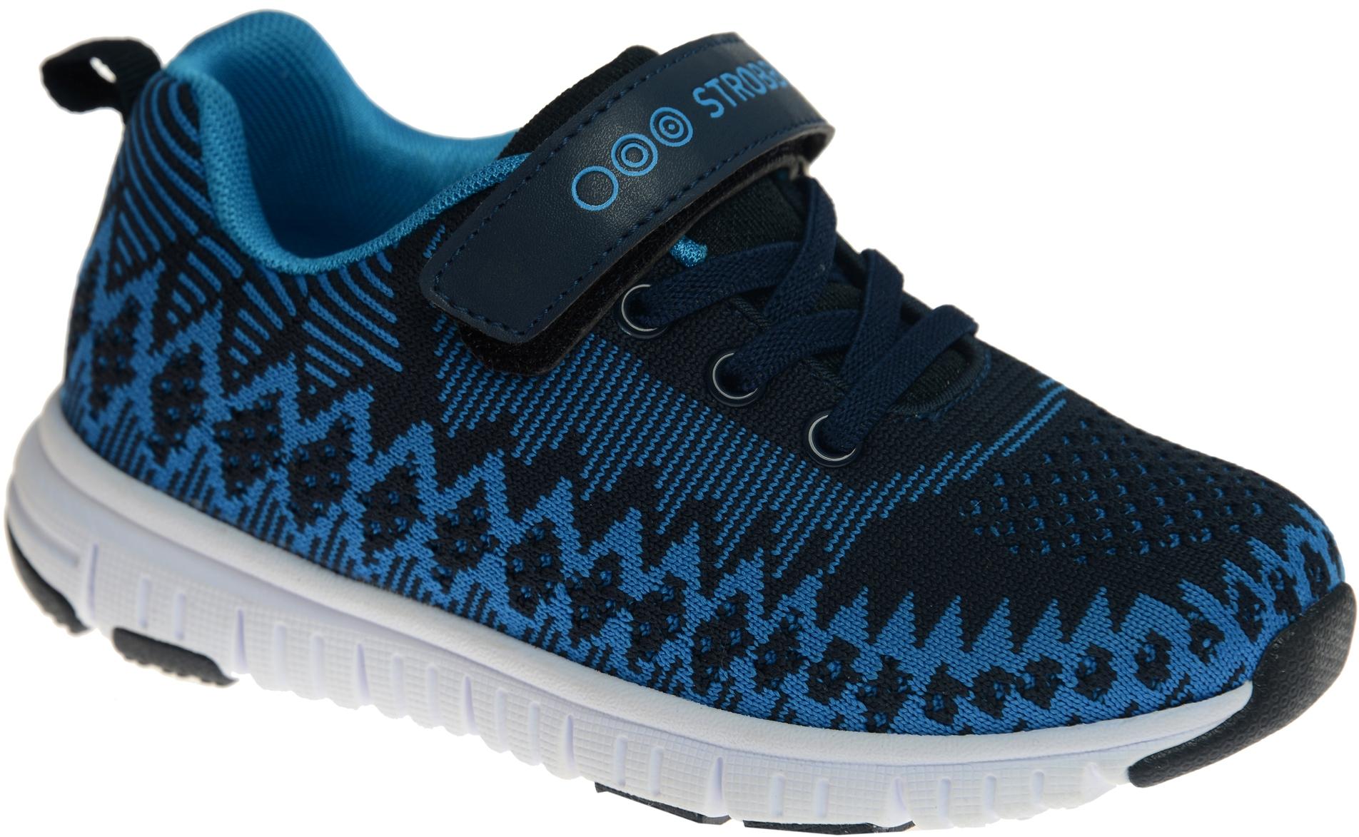 Кроссовки для мальчика Strobbs, цвет: темно-синий, синий. N1546-2. Размер 33N1546-2Стильные кроссовки для мальчика Strobbs отлично подойдут для активного отдыха и повседневной носки. Верх модели выполнен из вязаного текстиля. Удобная шнуровка и хлястик на липучке надежно зафиксируют модель на стопе. Особая форма подошвы обеспечит удобство при ходьбе и отличную амортизацию.