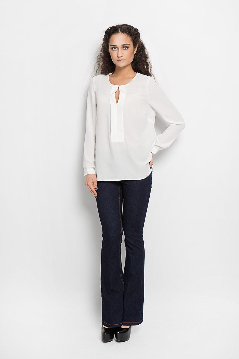 Блузка женская Broadway Adleigh, цвет: белый. 10156088 001. Размер XS (42)10156088 001Стильная женская блуза Broadway Adleigh, выполненная из высококачественного материала, подчеркнет ваш уникальный стиль и поможет создать оригинальный женственный образ.Блузка с круглым вырезом горловины и длинными рукавами застегивается спереди на металлический крючок, манжеты рукавов - на пуговицы. Изделие спереди оформлено декоративной планкой с разрезом на груди. Спинка блузки удлинена.Модель идеально подойдет для жарких летних дней. Такая блузка будет дарить вам комфорт в течение всего дня и послужит замечательным дополнением к вашему гардеробу.